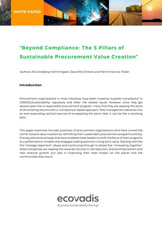 Beyond Compliance – The 5 Pillars of Sustainable Procurement Value Creation