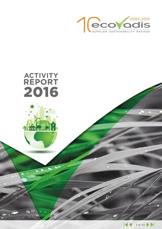 EcoVadis Annual Activity Report, 2016