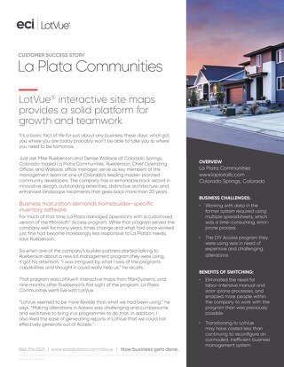La Plata Communities Uses LotVue for Real-time Information that Makes Everyone Effective