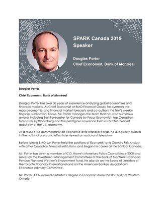 SPARK Canada Speaker: Douglas Porter