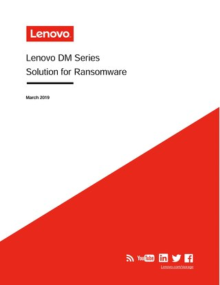 White paper: Lenovo DM Series Solution for Ransomware