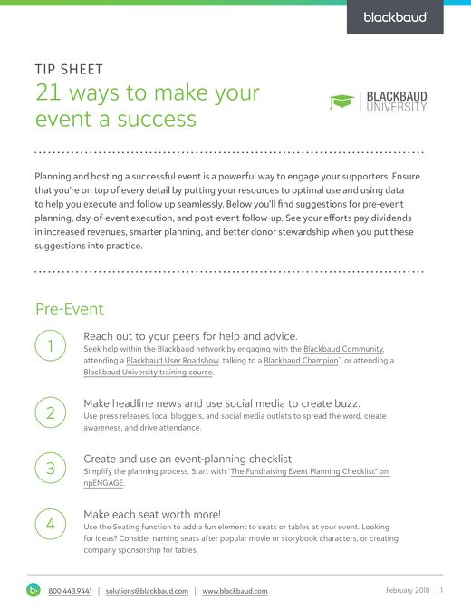 21 Ways to Make Your Event a Success
