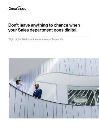 Don't leave anything to chance when your Sales department goes digital