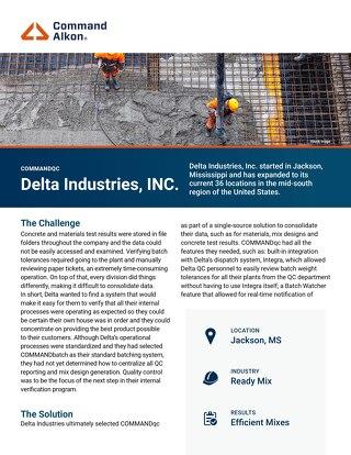 Delta COMMANDqc Case Study