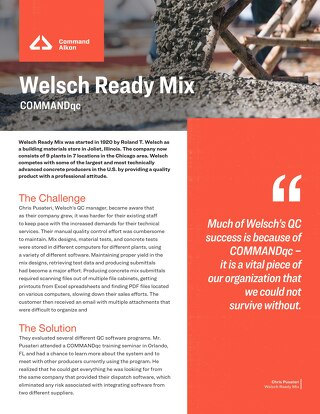 Welsch COMMANDqc Case Study