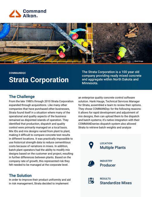 Strata COMMANDqc Case Study