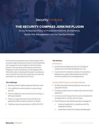 The Security Compass Jenkins Plugin