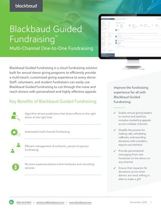 Solution Datasheet: Blackbaud Guided Fundraising