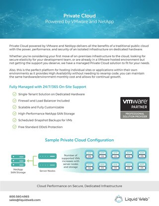 Private Cloud Powered By VMware and NetApp Offers Scalability and Performance