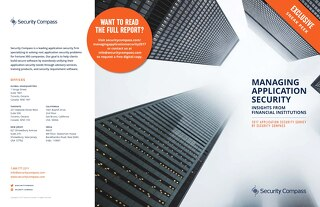 Managing Application Security Report Preview