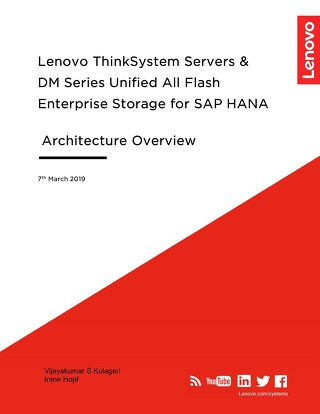 Lenovo ThinkSystem Servers & DM Series Unified All Flash Enterprise Storage for SAP HANA