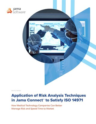 Application of Risk Analysis Techniques in Jama to Satisfy ISO 14971