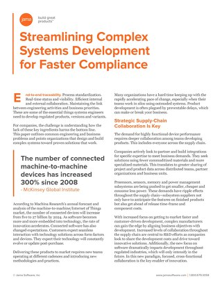 Streamlining Complex Systems Development for Faster Compliance