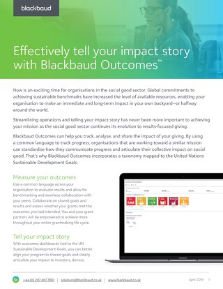 Blackbaud Outcomes Datasheet