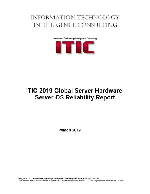 ITIC 2019 Global Server Hardware Server OS Reliability Report