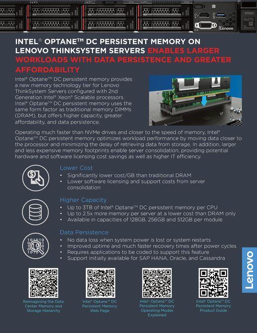 Why Intel Optane DC Persistent Memory on Lenovo ThinkSystem Servers
