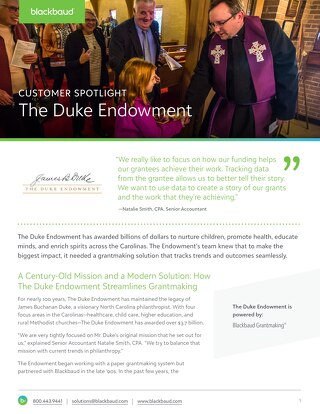 Customer Spotlight: Duke Endowment