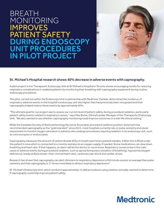 Breath Monitoring Improves Patient Safety During Endoscopy Unit Procedures in Pilot Project