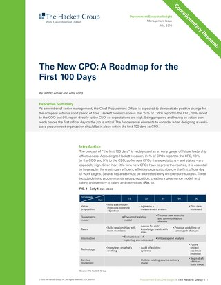 The new CPO: roadmap for the first 100 days