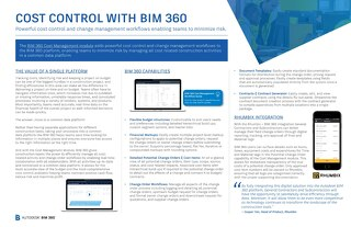 Cost Control with BIM 360