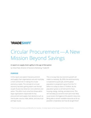 Circular procurement: a mission beyond savings