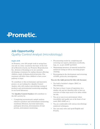 Quality Control Analyst (microbiology)