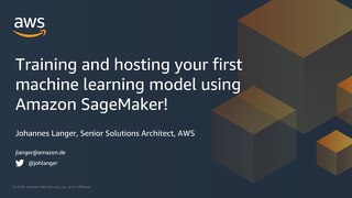 Getting Started with Amazon Sagemaker - Slides