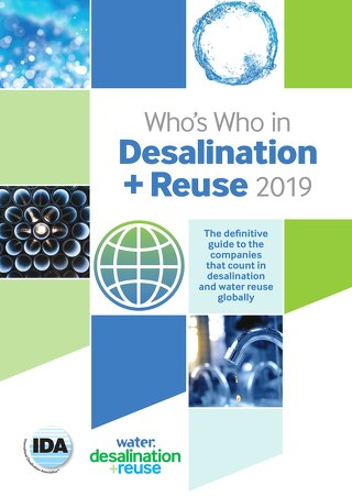 Who's Who in desalination + reuse 2019