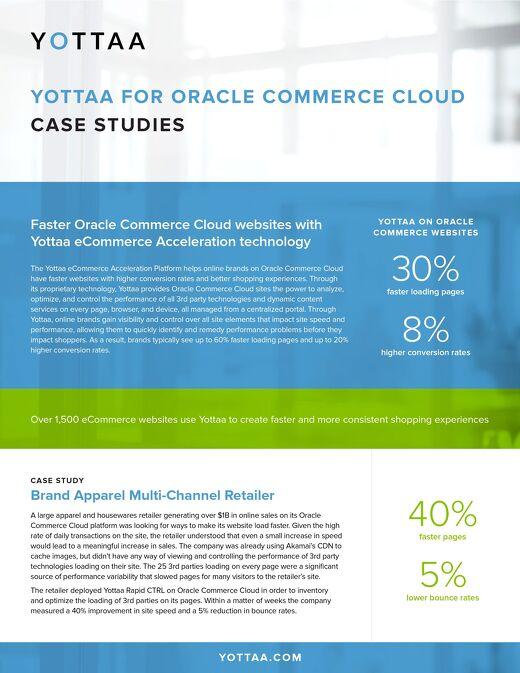 Case Study: Oracle Commerce Cloud Websites