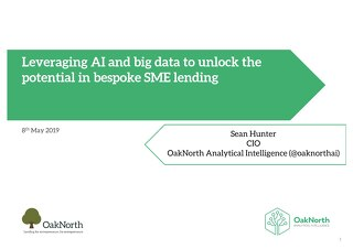 Oaknorth: Using Machine Learning to Improve Banking