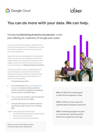 Google Cloud & Looker Marketing Analytics Accelerator