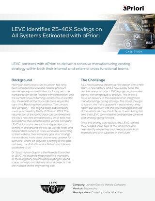 aPriori Customer Spotlight LEVC