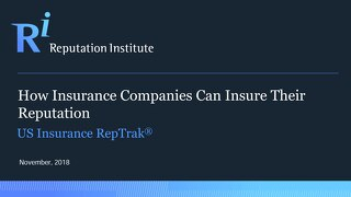 2018 US Insurance RepTrak Report