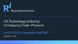 2018 US Technology RepTrak Report