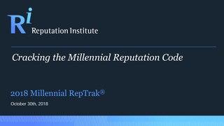 2018 Global Millennial RepTrak