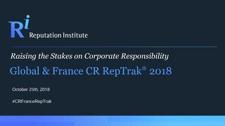 France CR RepTrak 2018