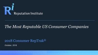 2018 US Consumer Industry RepTrak