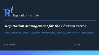 2018 Reputation Management for the Pharma Sector in Italy