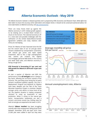 Alberta Economic Outlook May 2019