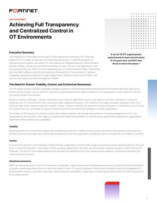 Achieving Full Transparency and Centralized Control