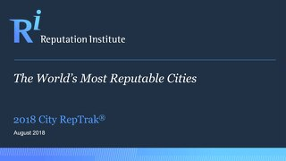 2018 City RepTrak Report