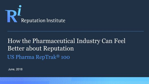 2018 US Pharma RepTrak