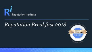 2018 Australian Reputation Breakfast