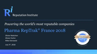 2018 France Pharma RepTrak