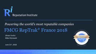 2018 France FMCG RepTrak