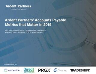 Ardent Partners Benchmarking Report: AP Metrics Matter 2019