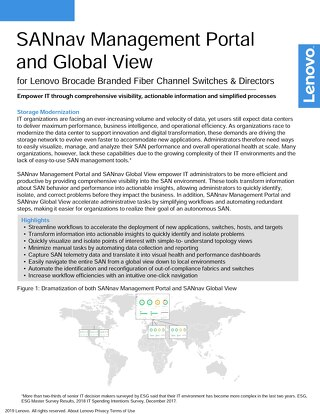 SANnav Management Portal and Global View