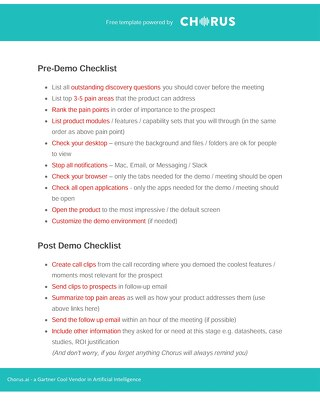 The Product Demo Checklist