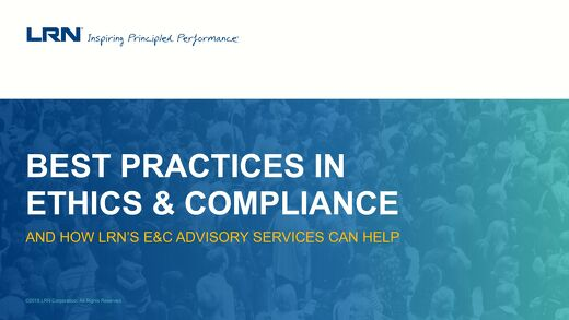 Best Practices in Ethics and Compliance