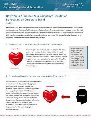 Improve Company Reputation by Focusing on Corporate Brand